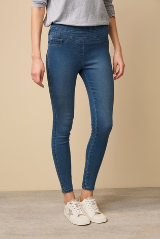 Mid Wash Super Stretch Soft Sculpt Pull-On Denim Leggings