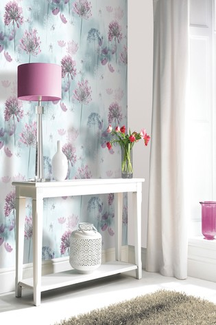 Arthouse Teal Spring Meadow Floral Wallpaper
