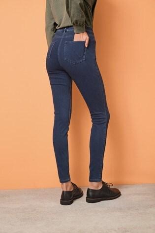 Dark Blue Jersey Denim Leggings