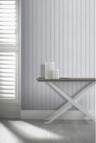 Arthouse Grey Tongue & Groove Wood Panel Wallpaper