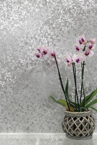 Arthouse Silver Velvet Crush Foil Abstract Wallpaper