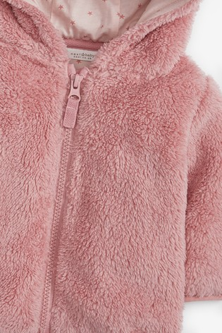 Pink Fleece Hooded Jacket (0mths-2yrs)