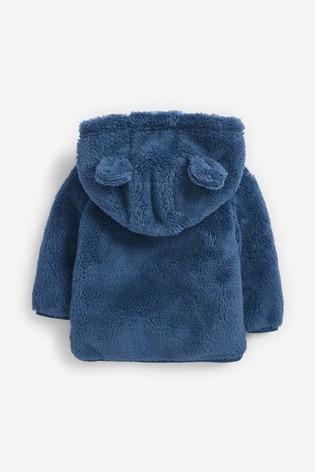 Blue Cosy Fleece Bear Jacket (0mths-2yrs)