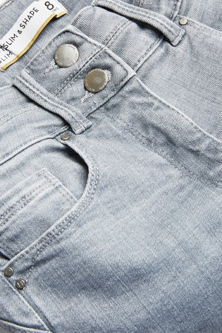 Grey Lift, Slim And Shape Slim Jeans