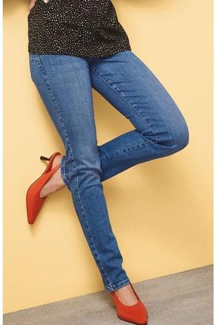 Mid Blue Lift, Slim And Shape Slim Jeans