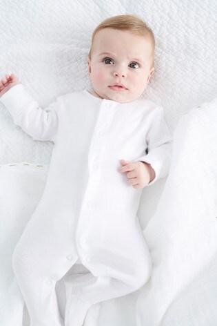 White 5 Pack Essentials Sleepsuits (0-9mths)