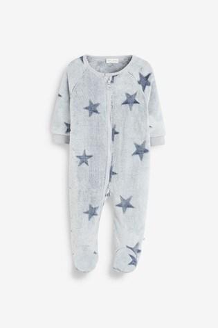 Grey Star Fleece Sleepsuit (0mths-3yrs)