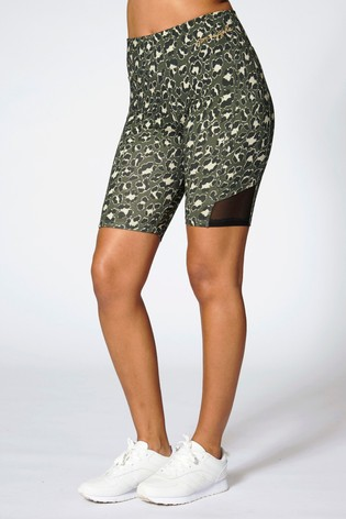 Pineapple Green Leopard Cycling Shorts
