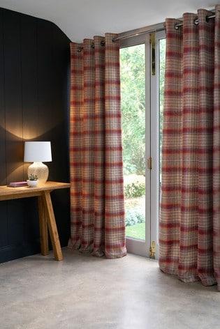Tweedy Cranford Eyelet Lined Curtains