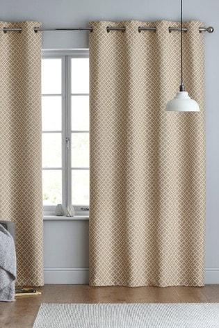 Dawson Woven Geo Eyelet Curtains