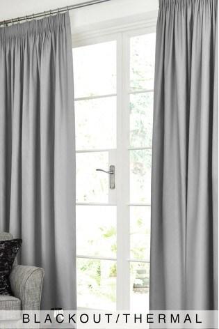 Cotton Pencil Pleat Blackout/Thermal Curtains