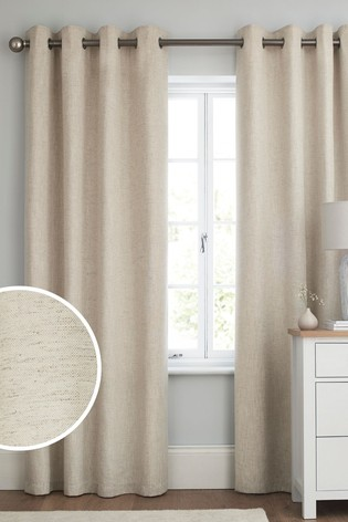 Linen Look Eyelet Curtains