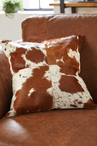 Cowhide Patchwork Cushion