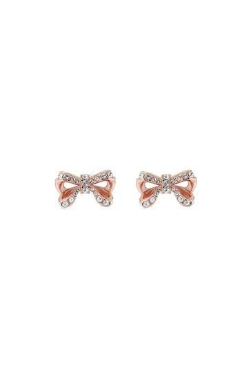 Ted Baker Callayy Crystal Petite Bow Stud Earrings