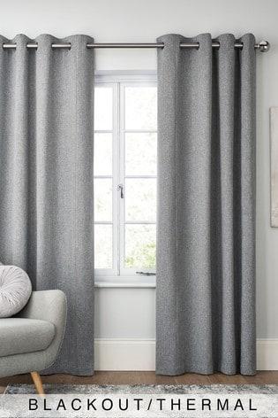 Soft Marl Eyelet Blackout/Thermal Curtains