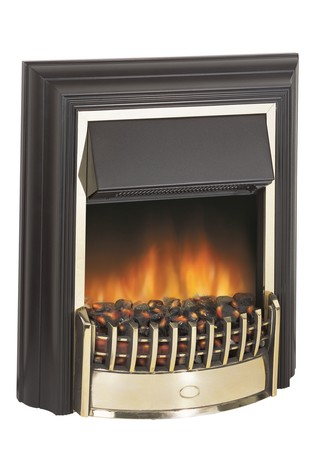 Dimplex 2kW Cheriton brass Electric Optiflame Freestanding Fire