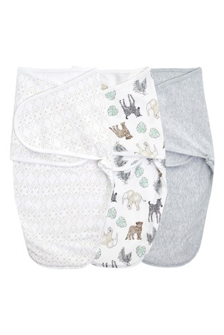 Aden & Anais™ White Essentials 3 Pack Swaddles