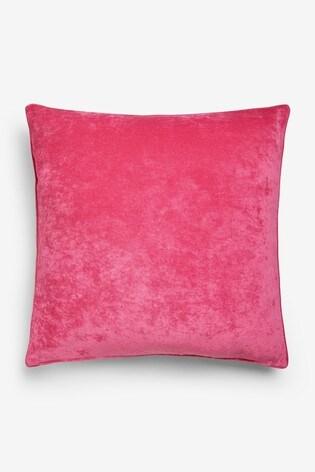 Soft Velour Large Square Cushion