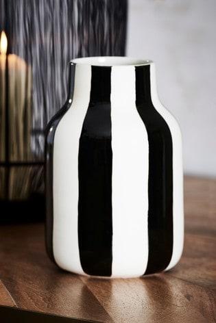 Ceramic Stripe Vase