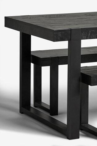 Jefferson Rustic 4 Seater Bench Set