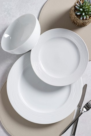 Malvern Embossed 12 Piece Dinner Set