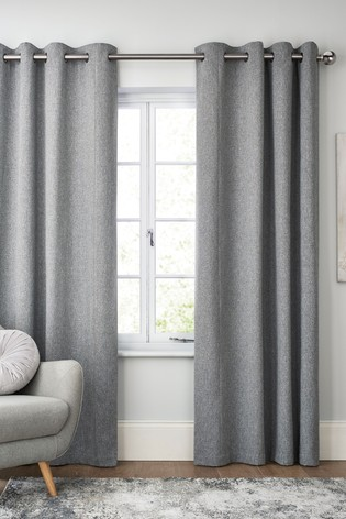 Soft Marl Eyelet Lined Curtains