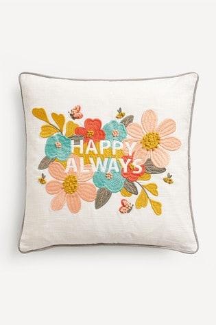Happy Always Floral Cushion