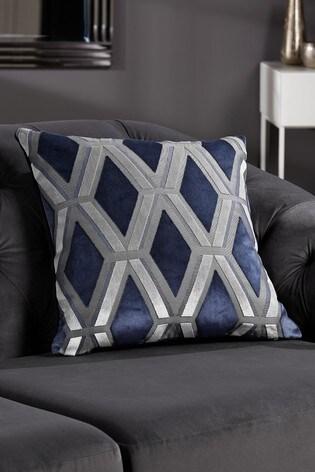 Luxe Cut Velvet Geo Cushion