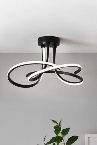 Sculptural LED Flush Ceiling Light