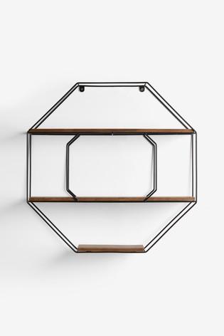 Salvage Octagon Shelf