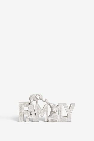 Elephant Family Word Block