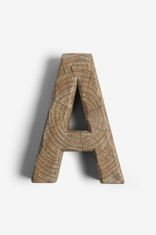 Wood Effect Alphabet Ornament