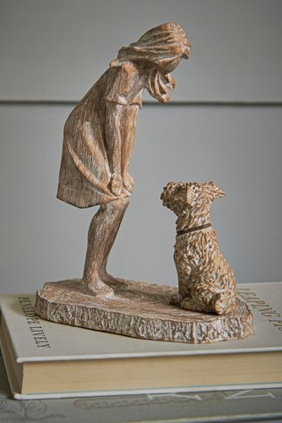 Girl And Dog Ornament
