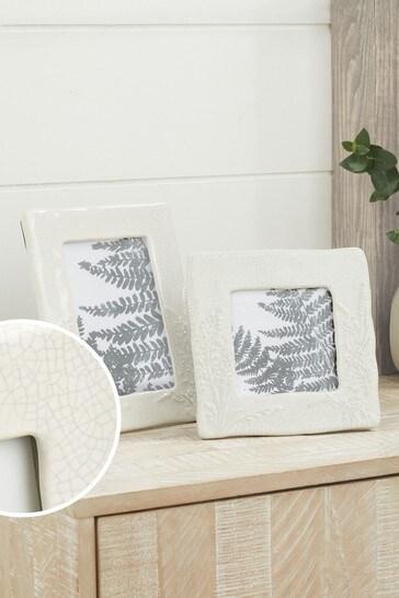 Ceramic Embossed Floral Frame