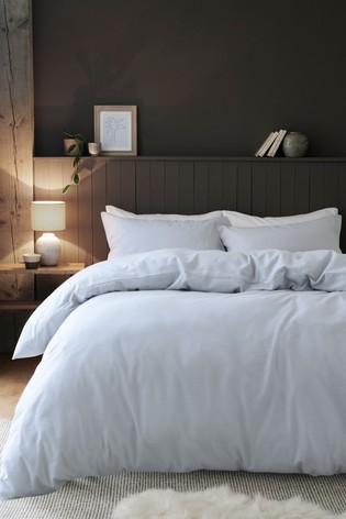 Supersoft Brushed 100% Cotton Duvet Cover and Pillowcase Set