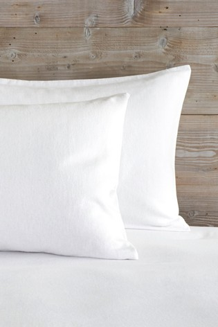Set of 2 Supersoft Brushed 100% Cotton Pillowcases
