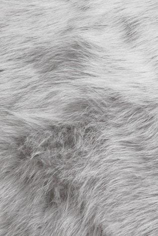 Long Faux Fur Throw
