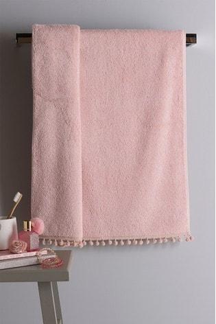 Pink Pom Pom Towel