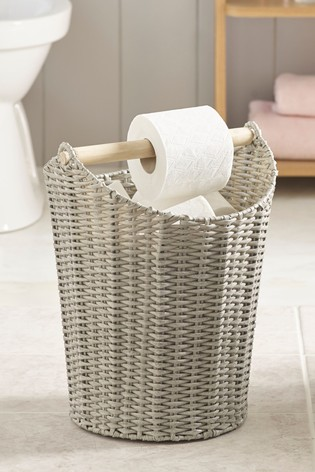 Woven Toilet Roll Holder And Store