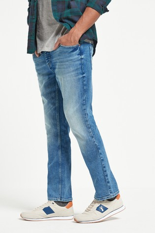 Light Blue Wash Bootcut Fit Jeans With Stretch