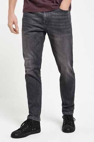 Grey Slim Fit Jeans With Stretch