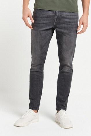 Grey Skinny Fit Jeans With Stretch