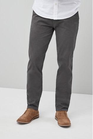 Dark Grey Slim Fit Stretch Chinos