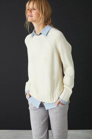 Cream Chambray Shirt Layer