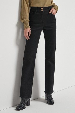 Black Enhancer Boot Cut Jeans