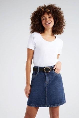 Cookies Brand Girls Belted Denim Pencil Skirt