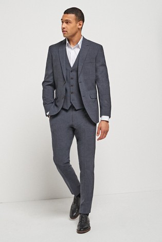 Navy Slim Fit Signature Motionflex Suit: Jacket