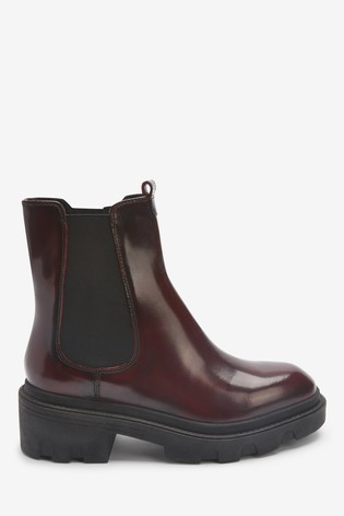Berry Forever Comfort® Chunky Chelsea Boots