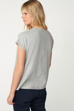 Grey Sequin Rainbow T-Shirt