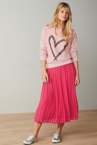 Blush Heart Graphic Sweatshirt